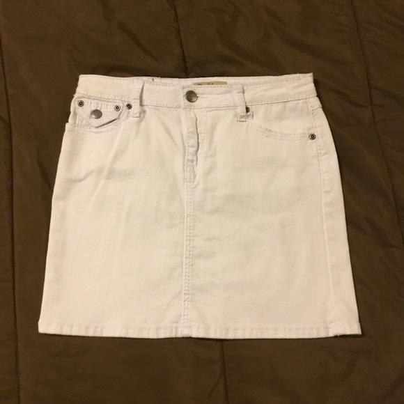 5e795e5d1e0 Earl Jeans Skirts   Classic Earl Jean White Denim Mini Skirt   Poshmark